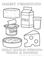 Dairy Foods Coloring Page