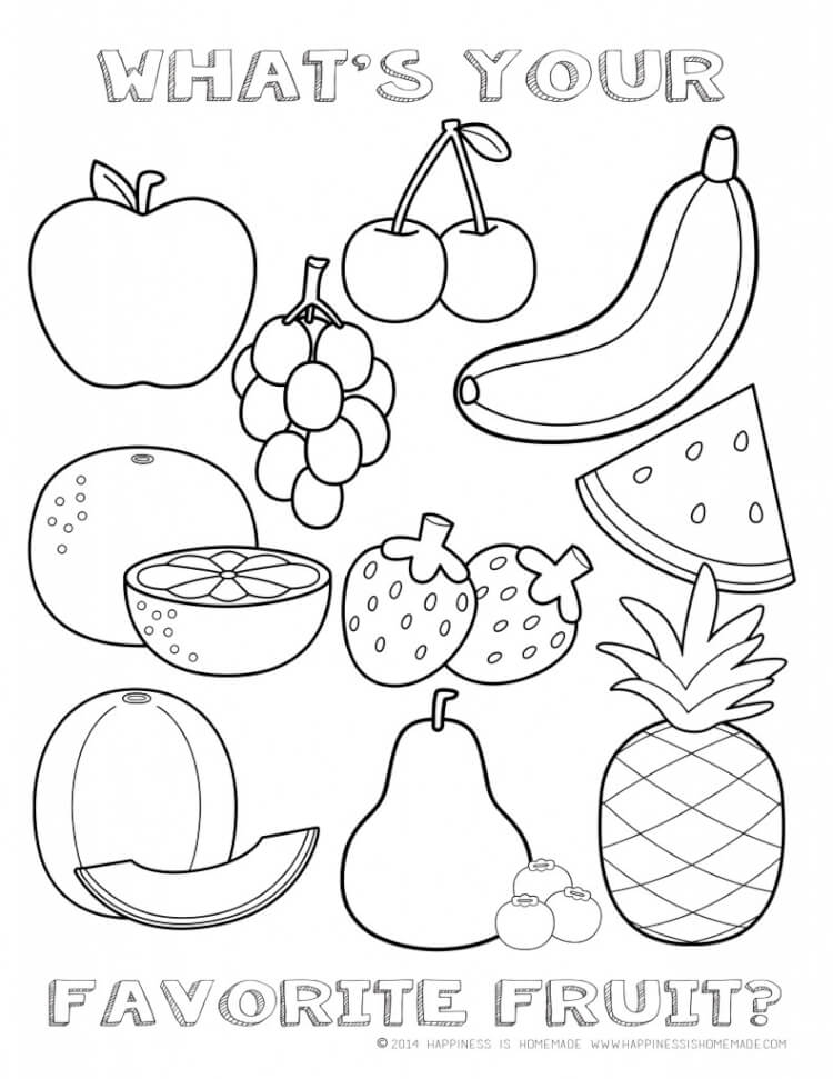 Printable Healthy Eating Chart  Coloring Pages - Happiness is Homemade