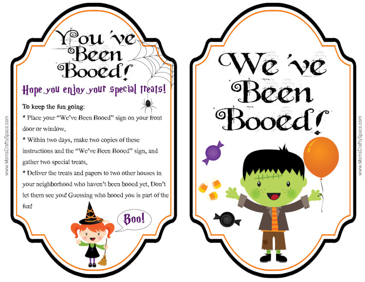 Free You\u0027ve Been Booed Printables! - Happiness is Homemade