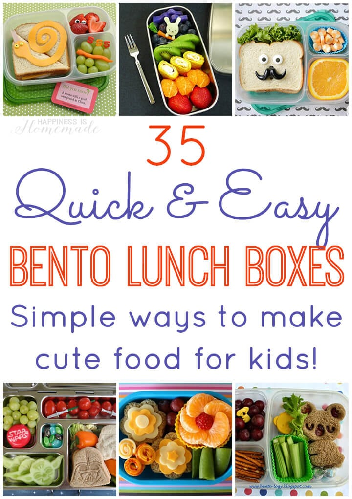 35 Quick Easy Bento Lunch Boxes Happiness Is Homemade