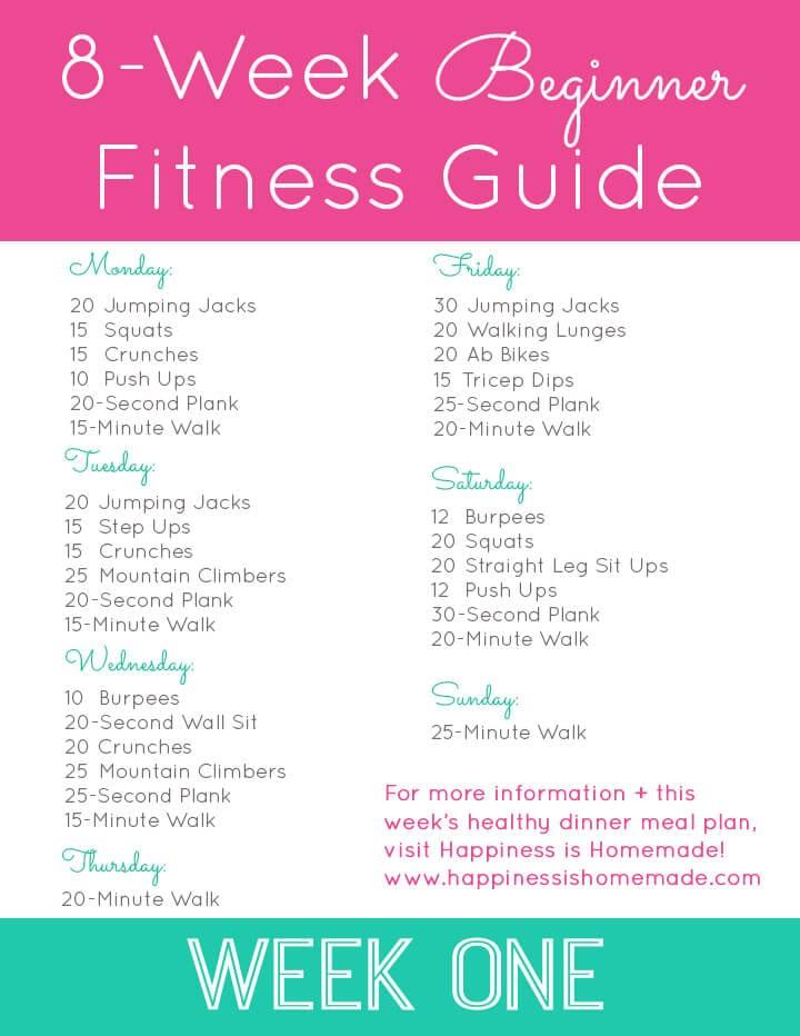 Beginner Fitness Jumpstart Week 1 - Happiness is Homemade