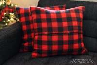 Buffalo Check Plaid Pillows from a $3 Target Blanket ...
