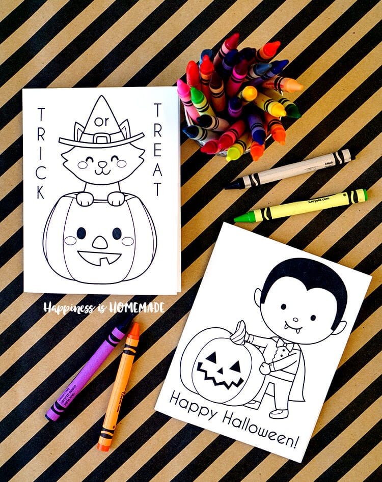 Printable Halloween Coloring Books - Happiness is Homemade