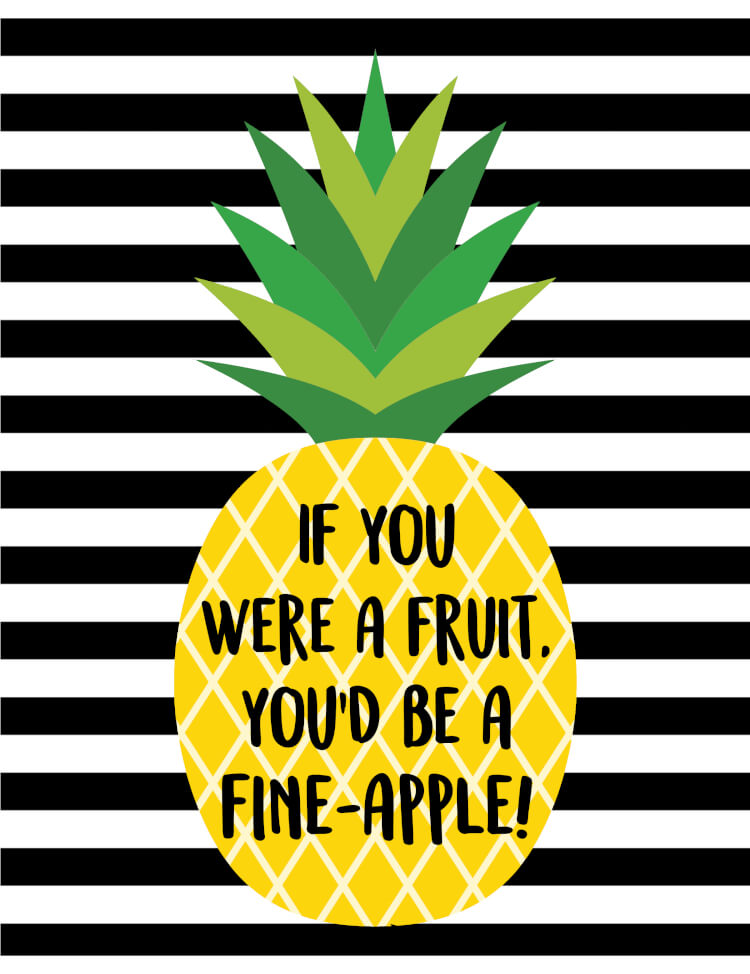 Black Text Wallpaper Quot Fine Apple Quot Pineapple Printables Gift Tags Happiness