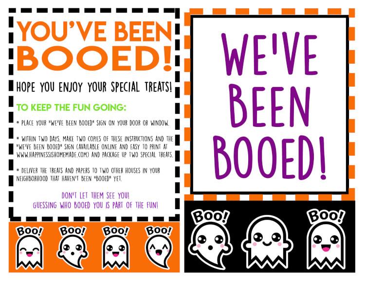 You\u0027ve Been Booed! Free Halloween Printables - Happiness is Homemade