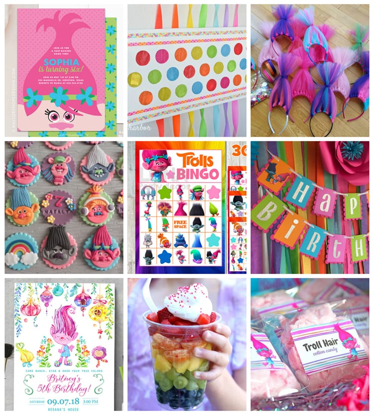 The Best Trolls Birthday Party Ideas - Happiness is Homemade