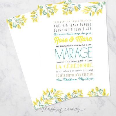 faire-part-mariage-jaune-moderne-fleurs-mimosa-gai-polices