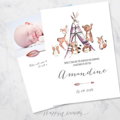 faire-part-naissance-tipi-animaux-foret-woodland-fille-happy-chantilly