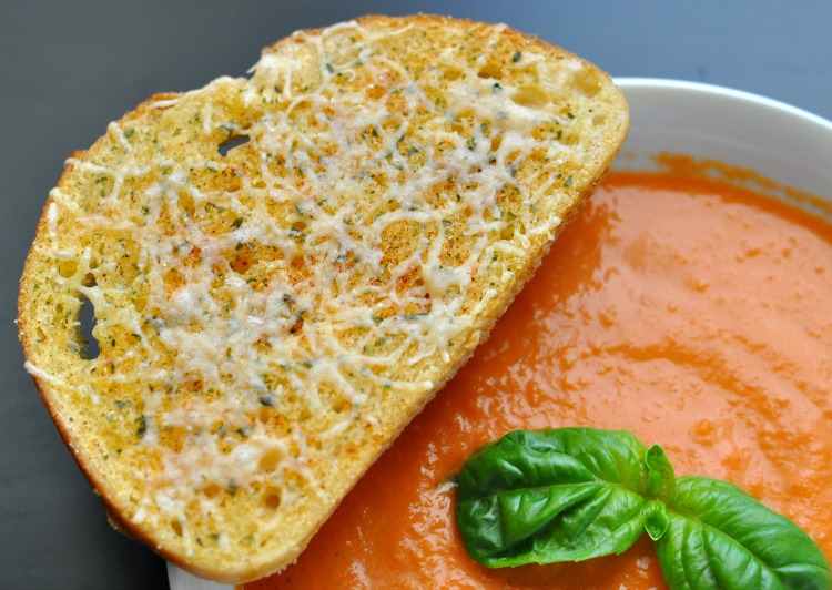 ... Tomato Soup with Garlic Parmesan Sourdough Toast recipe. All opinions