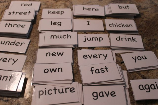 FREE Sight Words Flash Cards - Happy and Blessed Home - dolch sight word flashcards