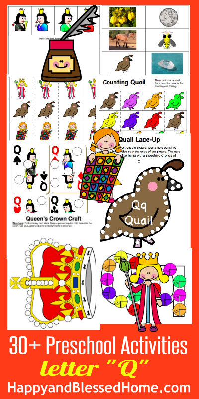 Learn to Read Preschool Alphabet Letter Q - Happy and Blessed Home