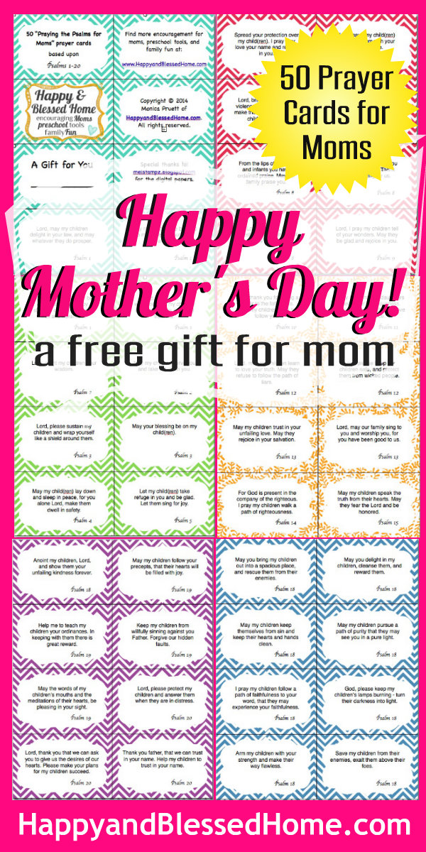 FREE Mothers Day Gift - Happy and Blessed Home - online printable mothers day cards