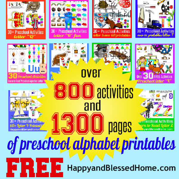1300+ Pages Alphabet Printable Letters and Activities FREE - 2 week notice letter
