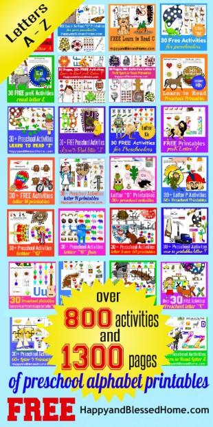 1300+ Pages Alphabet Printable Letters and Activities FREE - sticker chart