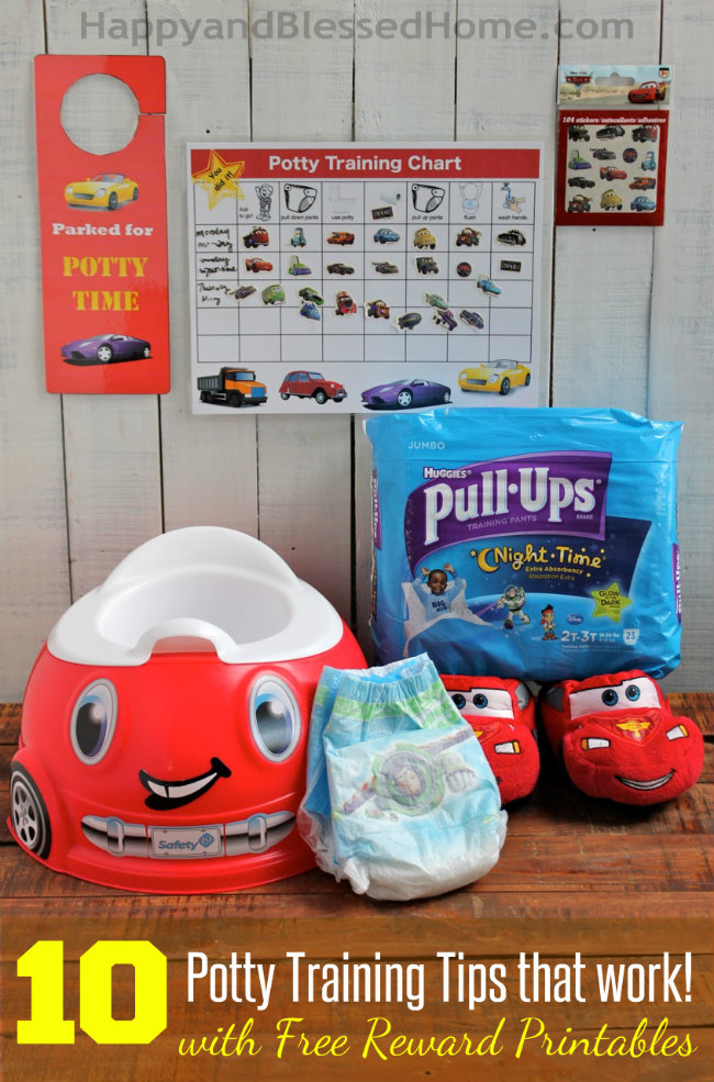 10 Potty Training Tips that Work with FREE Printable Potty Training