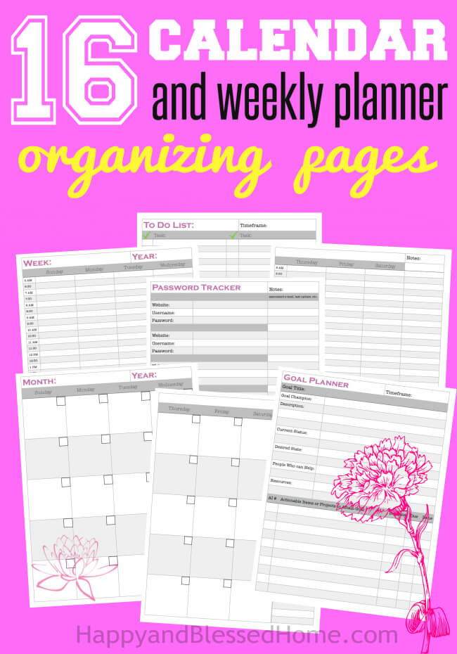 FREE 16 page Planner for Goal-Setting and Organizing in the New Year