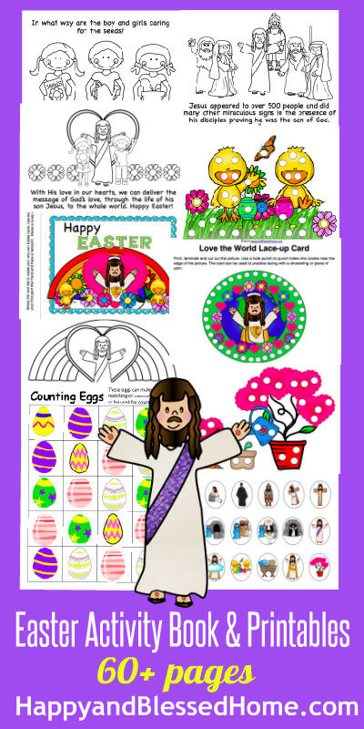FREE Easter Book for Children - Happy and Blessed Home - free printable religious easter cards