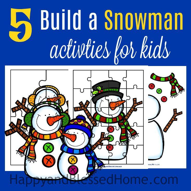 FREE 5 Build a Snowman Activities Printable Pack - Happy and Blessed