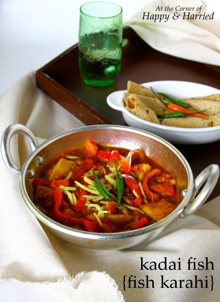 Restaurant Style Kadai Fish Or Fish Karahi