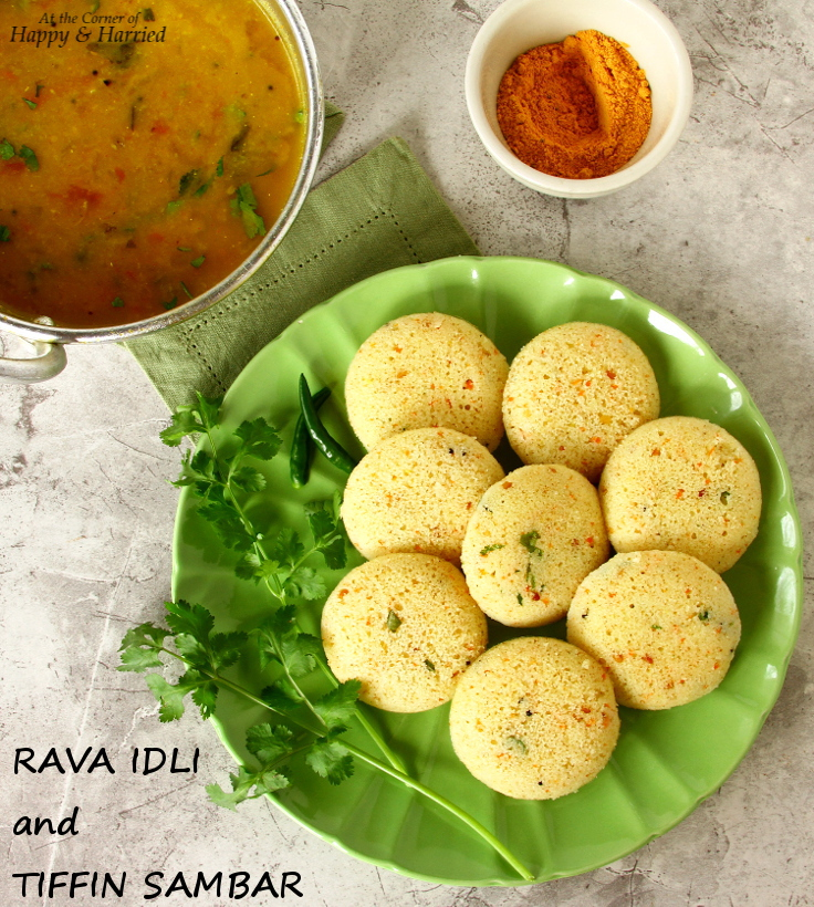 Great Indian Breakfast - Rava Idli And Tiffin Sambar