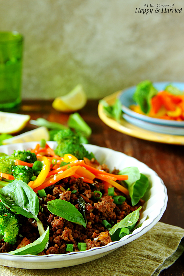 Thai Beef-Basil Stir Fry With Peppers & Sesame