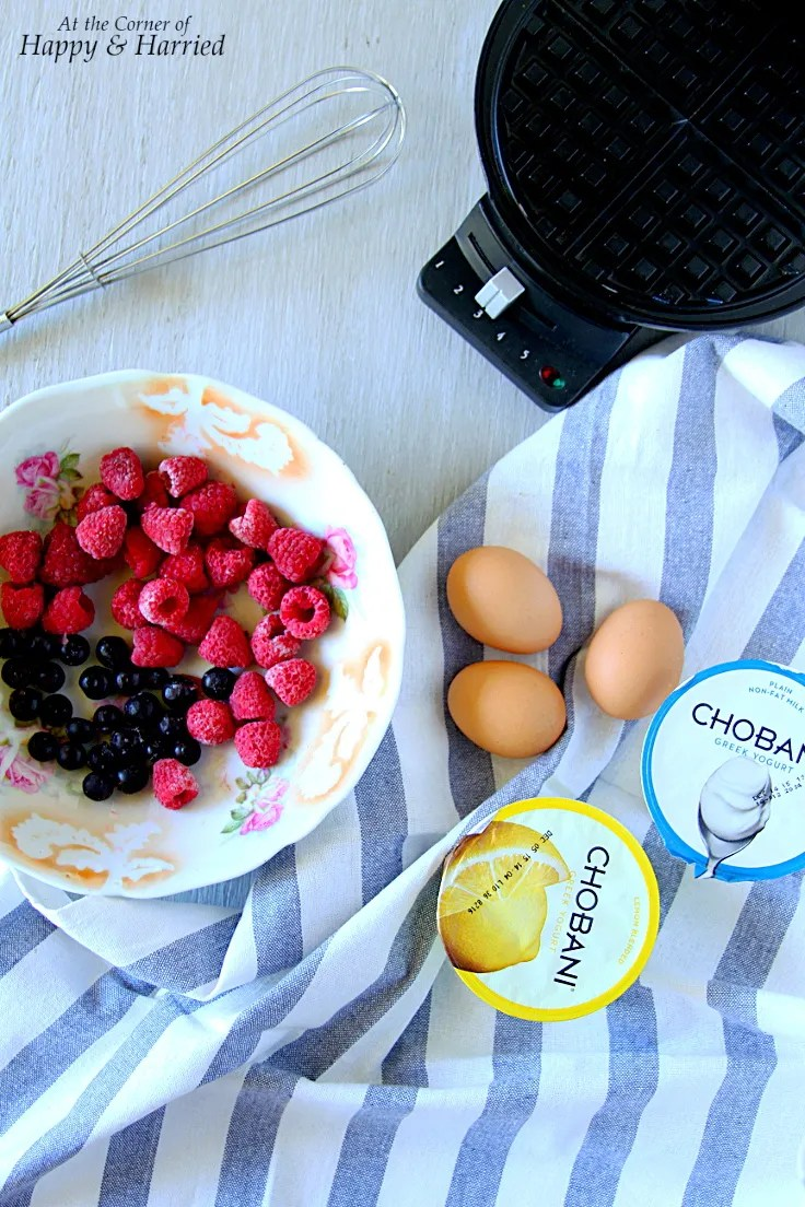 Lemon, Yogurt & Berry Waffles