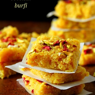 APPLE COCONUT BURFI (OR BARFI), INDIAN FUDGE DESSERT