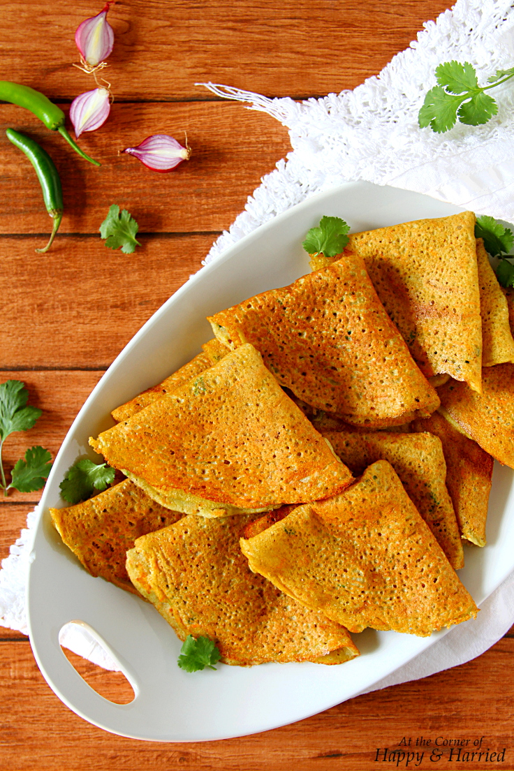 Adai Dosa {Savory Mixed Lentil & Bean Crepes}