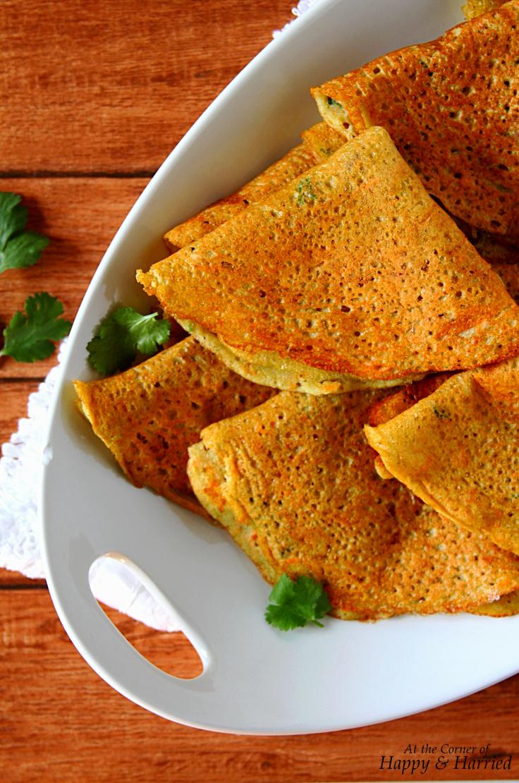 Adai Dosa {Savory Mixed Lentil & Bean Crepes}
