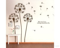Dandelion Wall Decal with Quotes Vinyl Decals Modern Wall ...