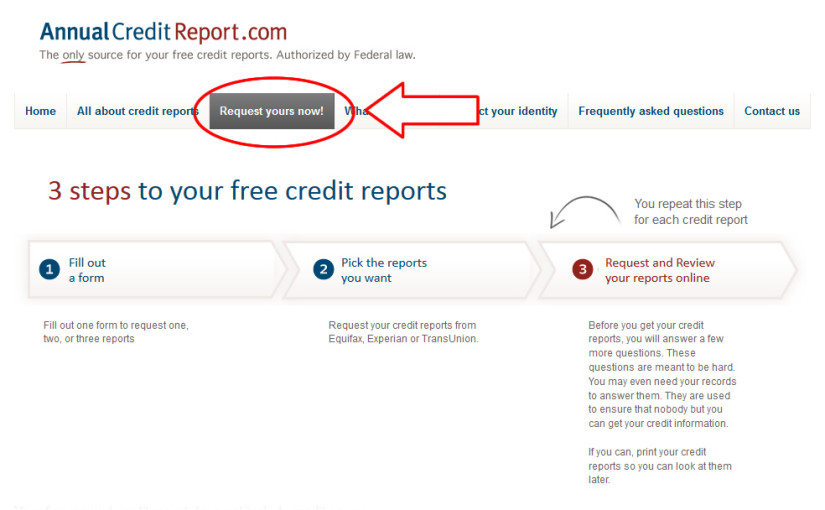 AnnualCreditReport  Free US Credit Reports, by FTC mandate - annual credit report form