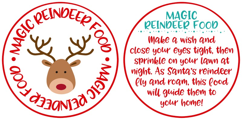 Magic Reindeer Food Ornaments and Free Printable - Happy-Go-Lucky