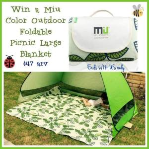 Miu Color Outdoor Foldable Picnic Large Blanket Giveaway