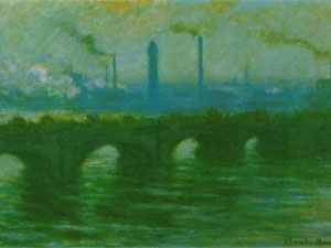 Monet's Waterloo Bridge Temps Couvert fetches record