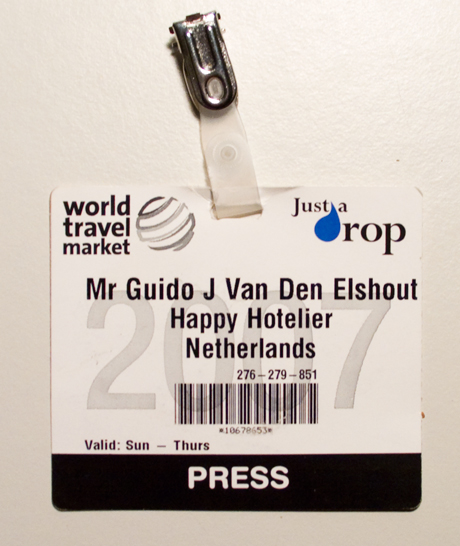Happy Hotelier's WTM Press Card