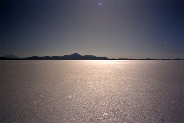 Salar de Uyuni Landscape in Bolivia at 15,000 ft