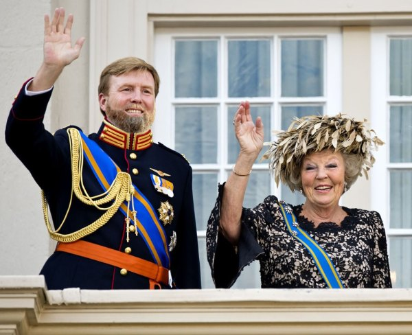 King to be Willem-Alexander and Abdicating Queen Beatrix
