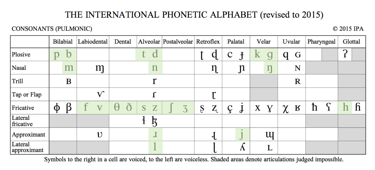 The Ipa Chart For Language Learners