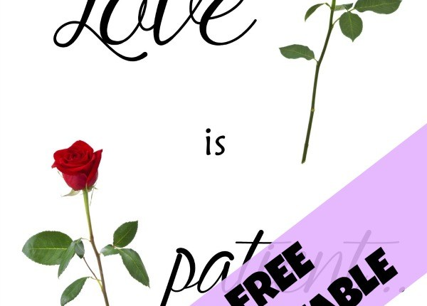 Love is patient free printable small