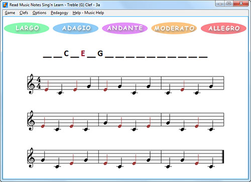 Pedagogy menu and color music notes to read music easily - bass cleft sheet music