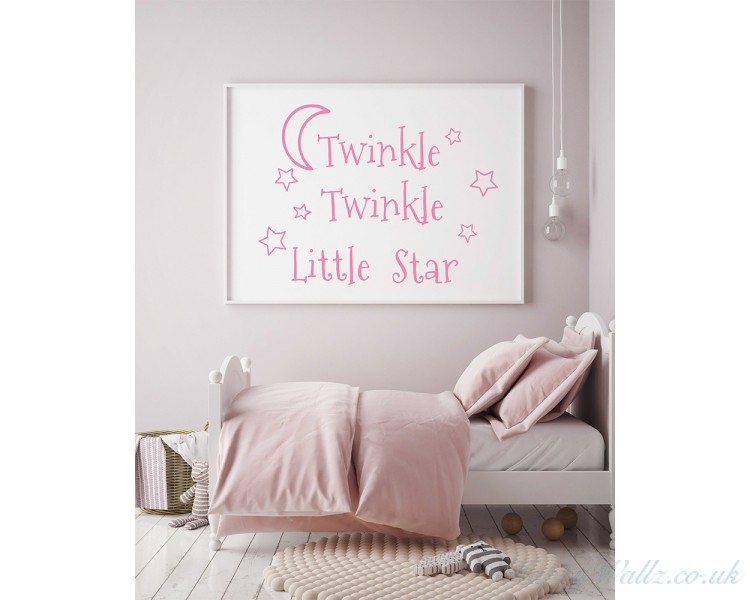 Twinkle Twinkle Little Star Decals Stars Nursery Decor