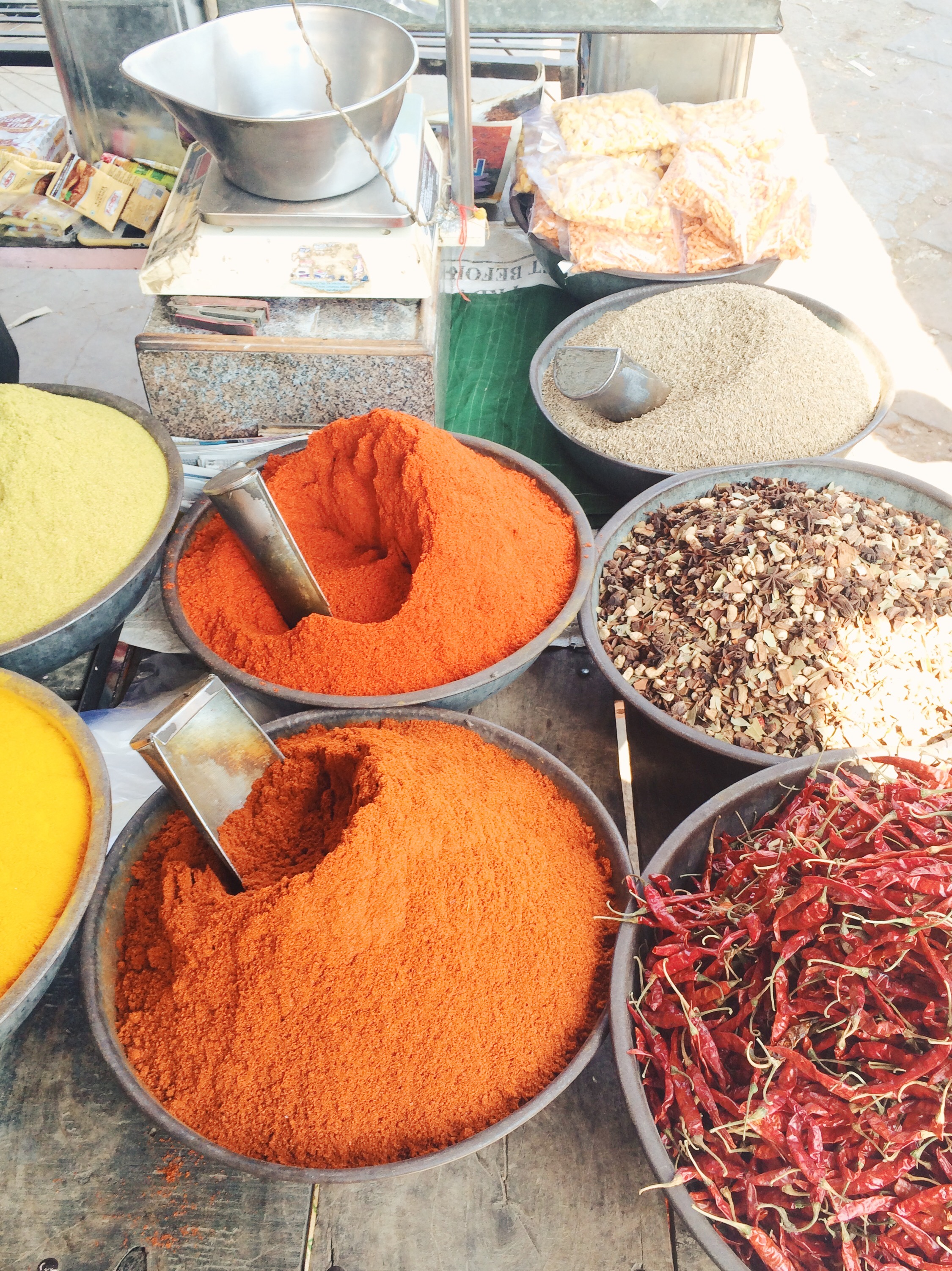 and spices in India