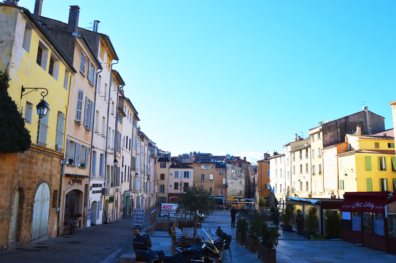 Place des Cardeurs, the first place I stumbled upon when moving to Aix.