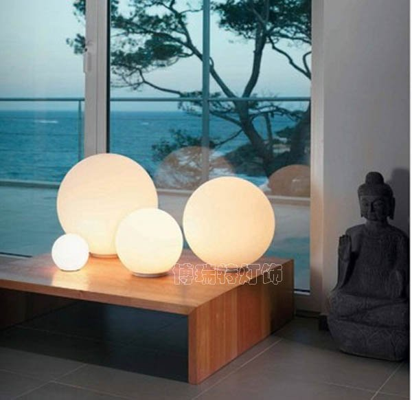 modern table lighting with plug opal glass desk lamp for - glass table lamps for living room