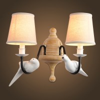 retro vintage wall lamp 2 light birds resin material metal ...