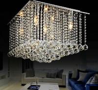 selling modern lustre square crystal chandelier lighting ...