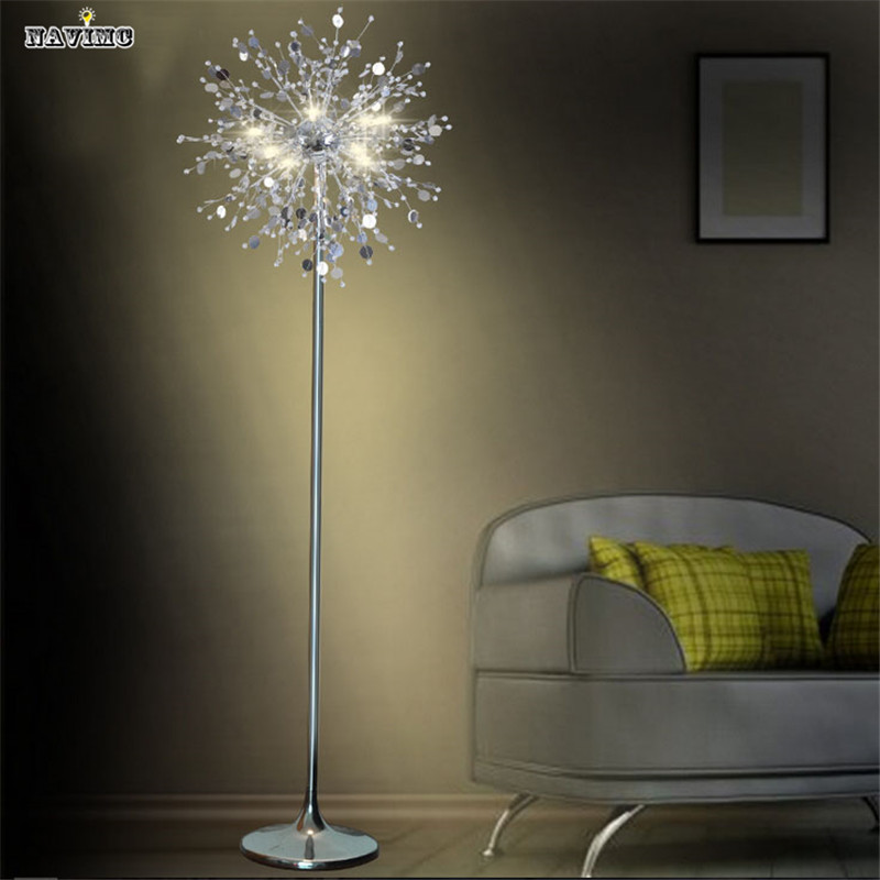 crystal living room stand floor lamp modern flower floor light for - living room light stand