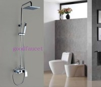 """Modern Rain Shower Faucet Set 8""""Square Shower Head With ..."""
