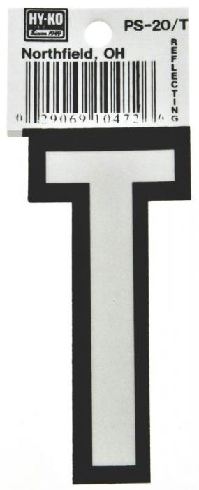 Aubuchon Hardware Store HY-KO PS-20/T Reflective Letter, Character T
