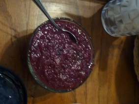 Homemade cranberry sauce with pineapple